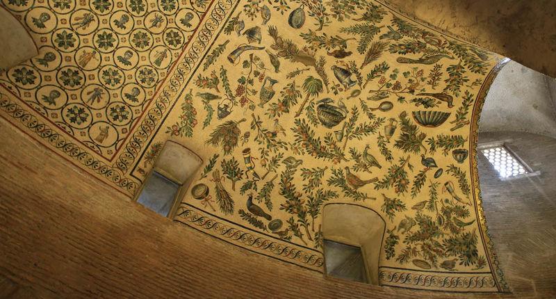 !Fragment mozaiki na sklepieniu Mauzoleum Konstancji