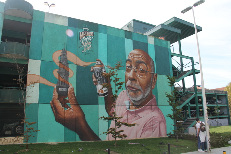 "!Street art w Porto - Mr. Dheo - ""Nobre e Leal"" (""Noble & Loyal"")"