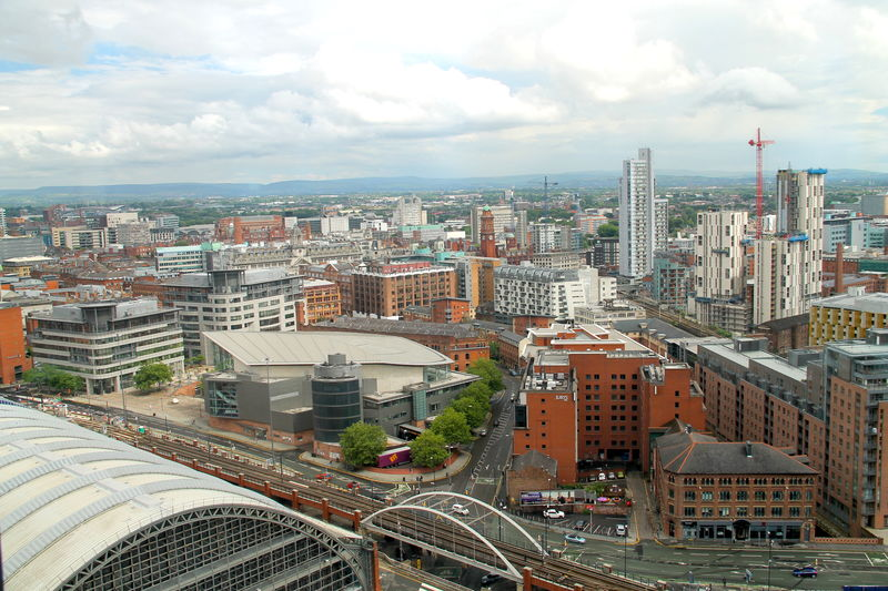 Widok z Cloud 23 - Beetham Tower Manchester