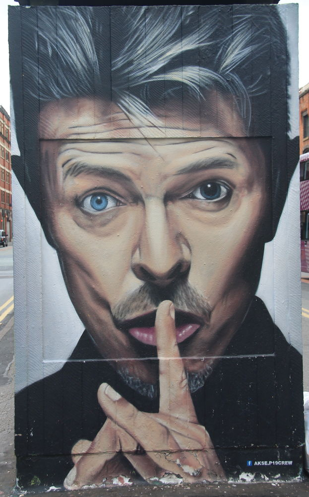 "!""Bowie tribute"", autor: Akse - street art Manchester"