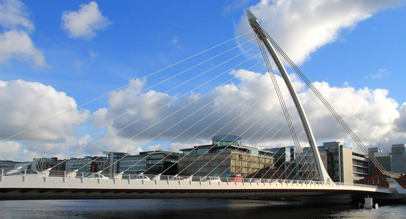 !Most im. Samuela Becketta w Dublinie - Samuel Beckett Bridge