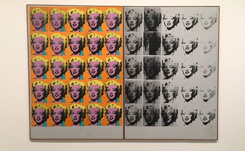 !Dyptyk Marylin (ang. Diptych Marylin) - Andy Warhol - Tate Modern, Londyn