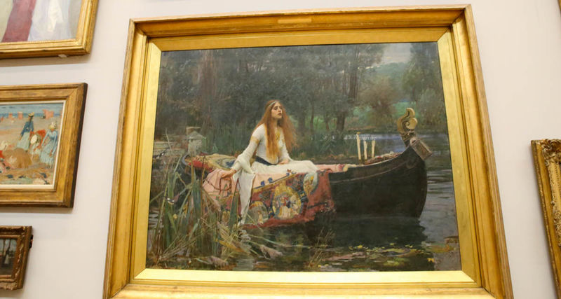 "!""The Lady of Shalott"" - John William Waterhouse (Tate Britain - Londyn)"