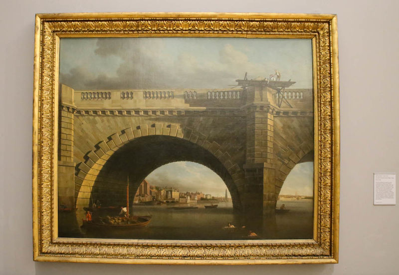 "!""An Arch of Westminster Bridge"" - Samuel Scott (Tate Britain - Londyn)"