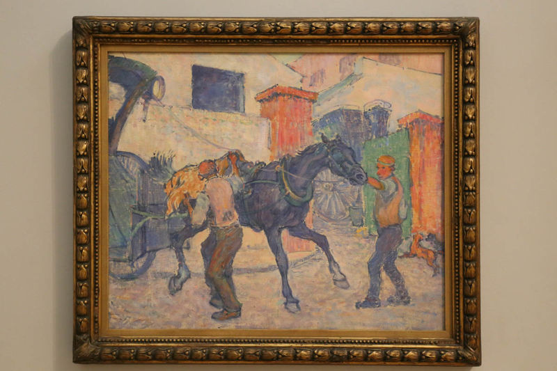 "!""The Cab Horse"" - Robert Bevan (Tate Britain - Londyn)"