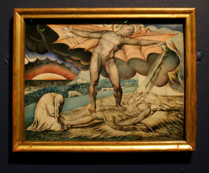 "!""Satan Smiting Job with Sore Boils"" - William Blake (Tate Britain - Londyn)"