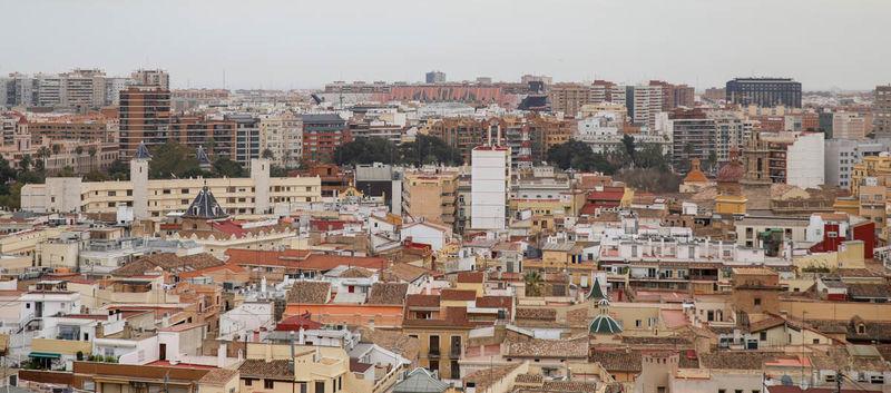 !Widok z wieży Katedry w Walencji