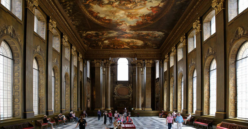 !Painted Hall - Old Royal Naval College w Londynie