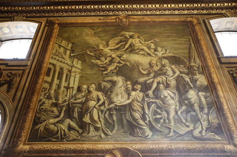 Painted Hall - Old Royal Naval College w Londynie