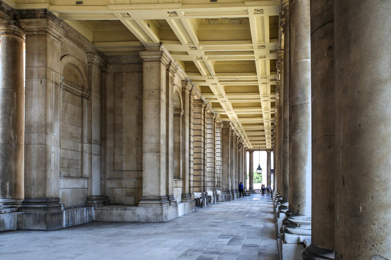 !Spacer po kompleksie Old Royal Naval College w Londynie
